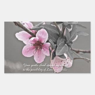 Your gentle Soul opened... Rectangular Sticker