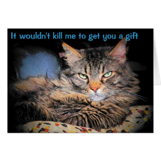 Your Gift? Why Risk It Greeting Card