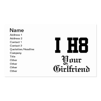 your girlfriend business card template
