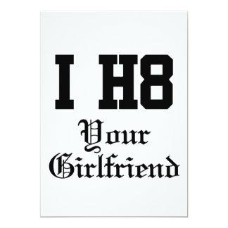 "your girlfriend 5"" x 7"" invitation card"