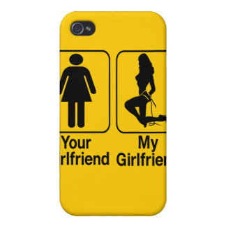Your girlfriend My girlfriend Custom iPhone4 Cases Cover For iPhone 4