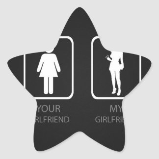 Your girlfriend My girlfriend Star Sticker