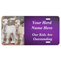 YOUR GOAT PHOTO and HERD NAME License Plate