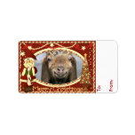 YOUR GOAT PHOTO Goat Christmas Gift Tag Label