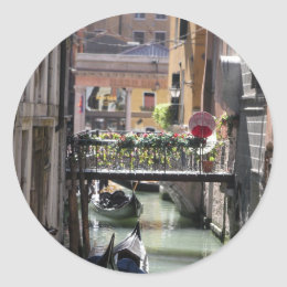 Your Gondola Awaits Classic Round Sticker