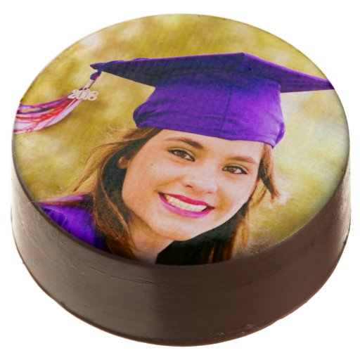Graduation Photo Chocolate Dipped Oreo