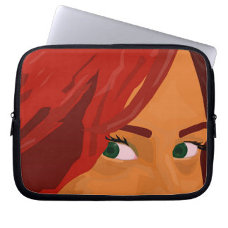Your green eyes laptop sleeve