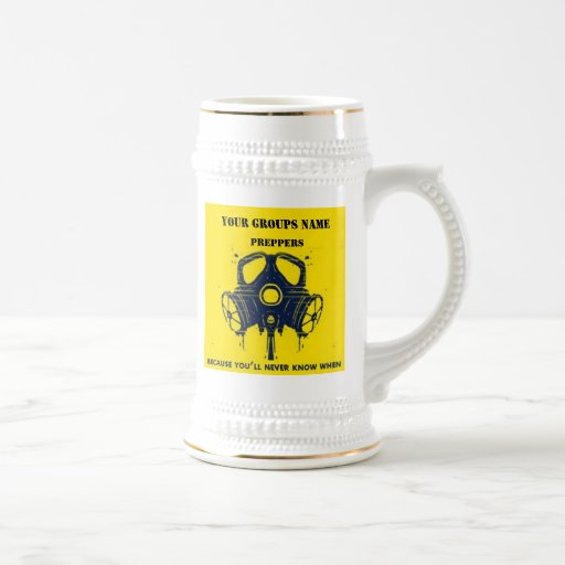 YOUR GROUPS NAME 18 OZ BEER STEIN