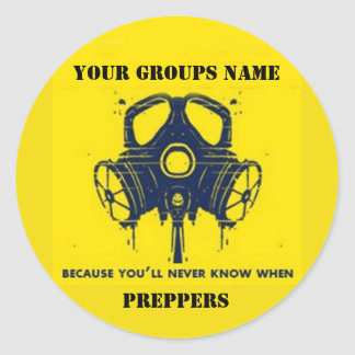 YOUR GROUPS NAME CLASSIC ROUND STICKER