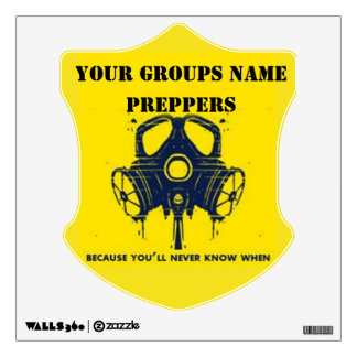 YOUR GROUPS NAME WALL STICKER