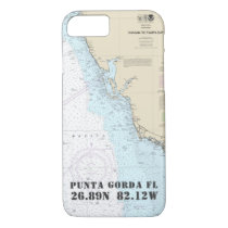 Your Gulf Coast City Latitude Longitude Nautical iPhone 8/7 Case