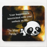 Your happiness depends on your outlook on life mouse pad