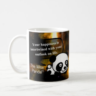 Your happiness depends on your outlook on life coffee mugs
