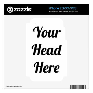 Your Head Joke Gift Personalised Photo Phone Skin For iPhone 3G