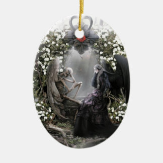 Your heart is beating me to death everyday ceramic ornament