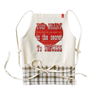 Your Heart is the secret to success Zazzle HEART Apron