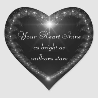 Your heart shine as bright as million stars seal heart sticker