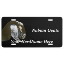 YOUR HERD NAME Nubian Goats Drawing License Plate