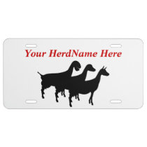 YOUR HERDNAME Dairy Goats Silhouette License Plate