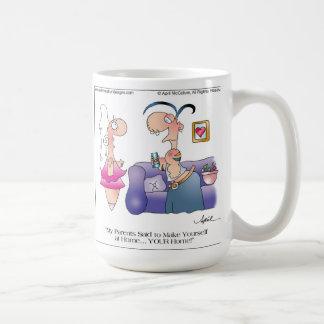 YOUR HOME Cartoon Mug by April McCallum
