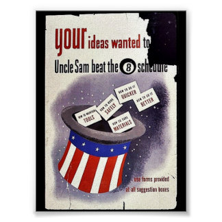 Your Ideas Wanted To Uncle Sam Beat The 8 Schedule Print