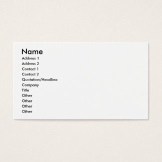Your Image and Text Here Business Card