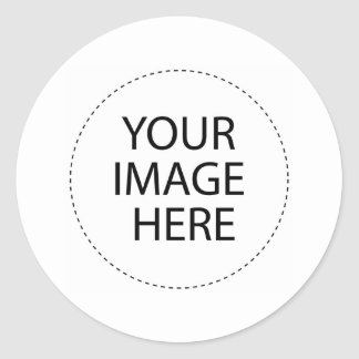 Your Image and Text Here Classic Round Sticker