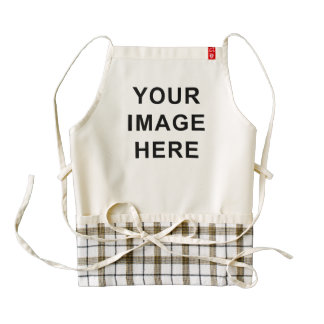 Your Image and Text Here Custom Blank Template Zazzle HEART Apron