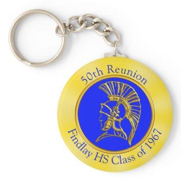 Beach Themed Your Image, Colors, Text on Class Reunion Souvenir Keychain