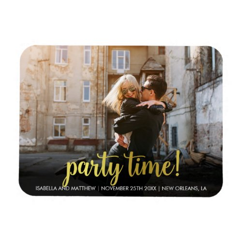 Your Image Here Antique Gold Party Time Photo Magnet