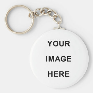 Your Image Here Basic Round Button Keychain