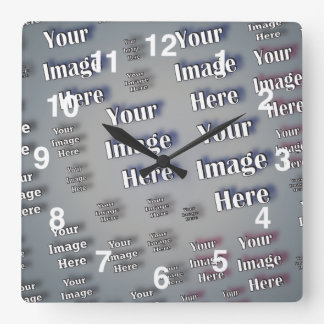 Your Image Here Square Wall Clocks
