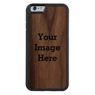 Your Image Here Custom Carved® Walnut iPhone 6 Bumper