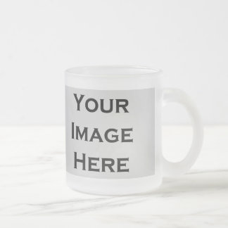 Your Image Here Custom Products Frosted Glass Coffee Mug
