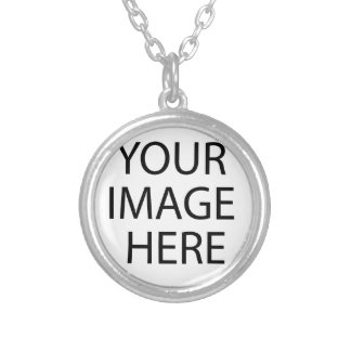 YOUR IMAGE HERE CUSTOMIZABLE SILVER PLATED NECKLACE