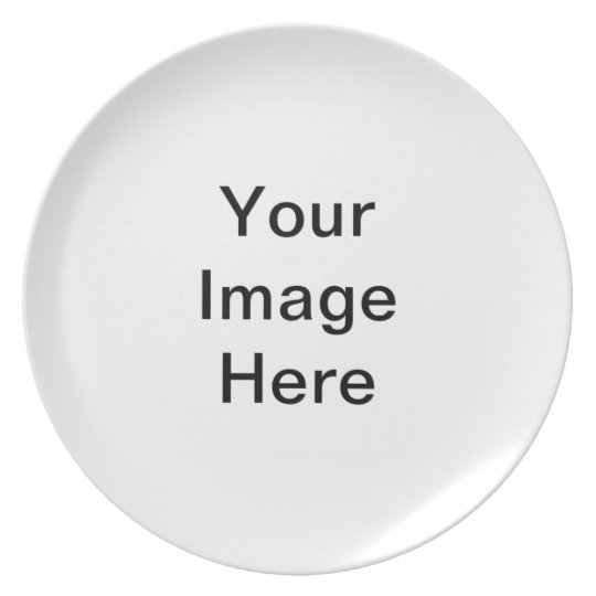 Your Image Here Pattern Melamine Plate