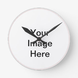 Your Image Here Pattern Round Wall Clock