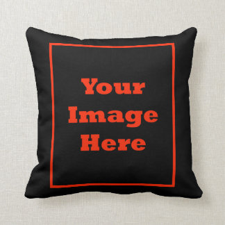 Your Image Here (Vertical) Throw Pillow