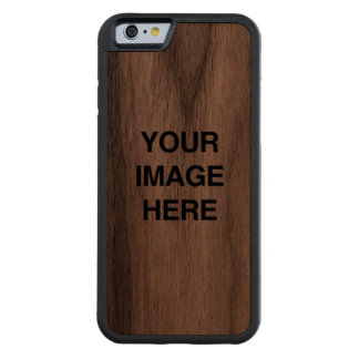 Your Image Here Carved® Walnut iPhone 6 Bumper