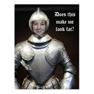 Your Image in a Suit of Armor Postcard
