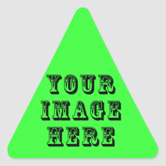 Your Image on Triangle Sticker