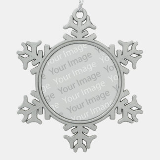 Your Image Pewter Snowflake Ornament