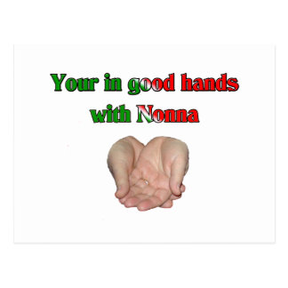 Your In Good Hands With Nonna Postcard