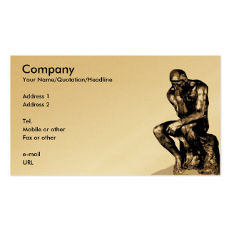 Your individual profile card with Rodin's Thinker