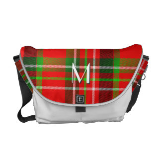 Your Initial - Christmas Tartan Pattern plaid Courier Bag