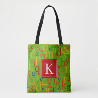 Your Initial | Colorful Alphabet Tote Bag