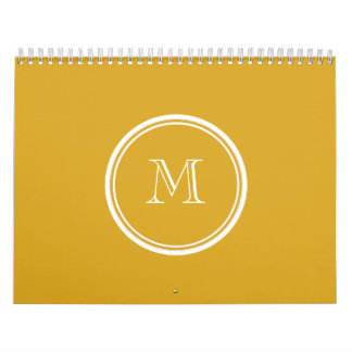 Your Initial Goldenrod High End Colored Calendar