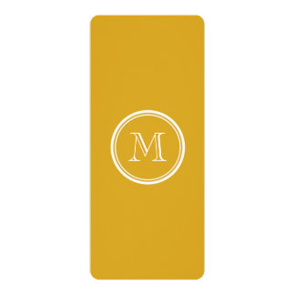 Your Initial Goldenrod High End Colored Card