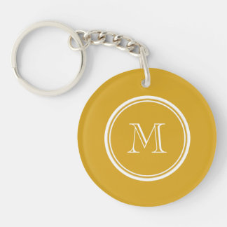 Your Initial Goldenrod High End Colored Keychain