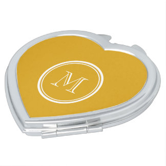 Your Initial Goldenrod High End Colored Makeup Mirror